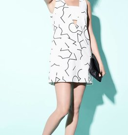 Eve Gravel Eve Gravel Cream Pomo Dress w/ Deep V-Neck