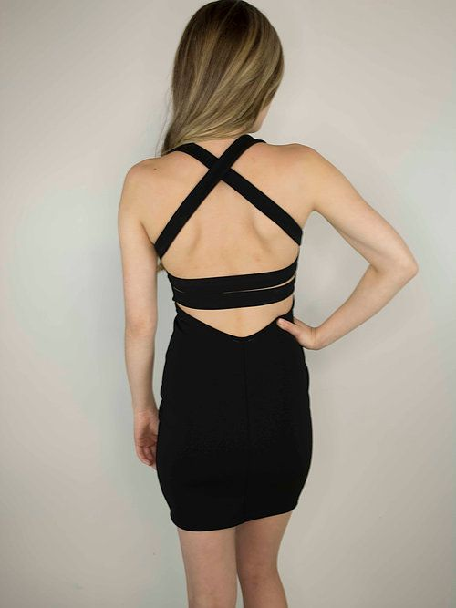 Lakefield Lakefield + Co. Black Cut Out Back Bodycon