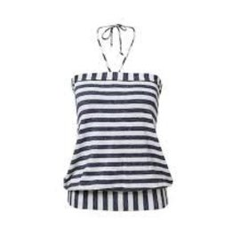 Melow by Melissa Bolduc MELOW Tube Top Navy/White Stripes