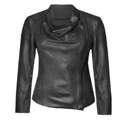 Black Tape Black Tape -  L/Slv Faux Leather Suede Jacket