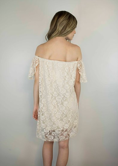 Lakefield Lakefield + Co. Ivory Lace Off The Shoulder Dress