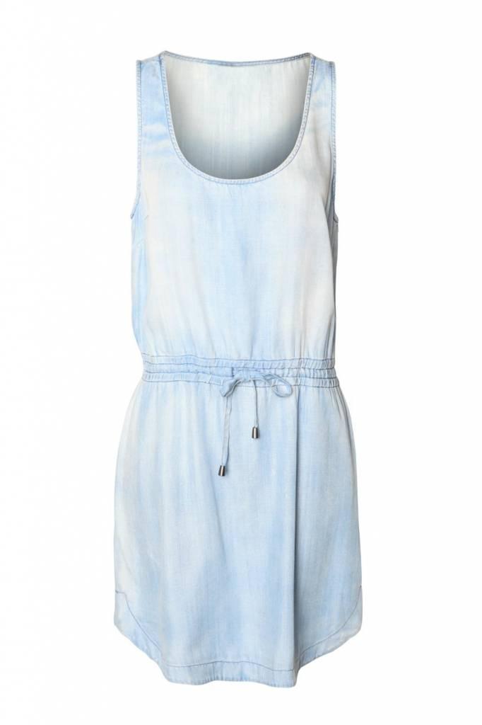 DEX DEX Light Denim Tencel Dress w/ Drawcord Waist