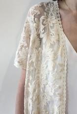 DEX DEX Ivory Lace Long Cardigan