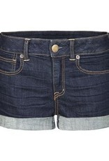 DEX DEX Ebony Blue Roll-Up Shorts