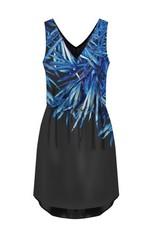 Black Tape Black Tape Palm Print Dress w/ Elastic Waist