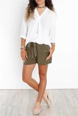 DEX DEX Green Khaki Shorts w/ Front Tie