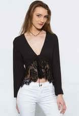 WYLDR WYLDR Blouse w/ Lace 'Waiting All Night'