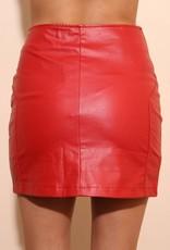 WYLDR WYLDR 'Janice' Red Pleather Skirt