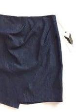 Eve Gravel EVE GRAVEL Denim Skirt w/ Draped Front