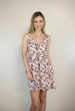 Lakefield Lakefield + Co. Dusty Pink Fit + Flare Dress w/ Line Neck