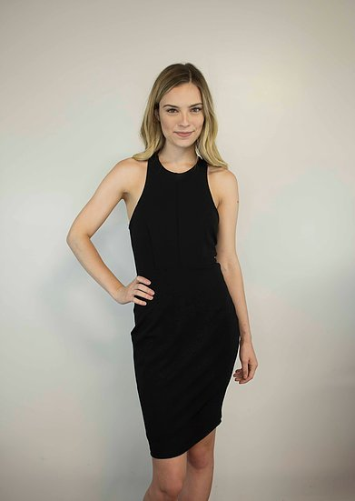 Lakefield Lakefield + Co. Black Fitted Dress w/ Mesh Back 'Jennilyn'