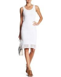 DEX DEX White Crochet Bodycon Dress