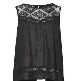 DEX DEX Black Slv/Less Crochet Babydoll Cami