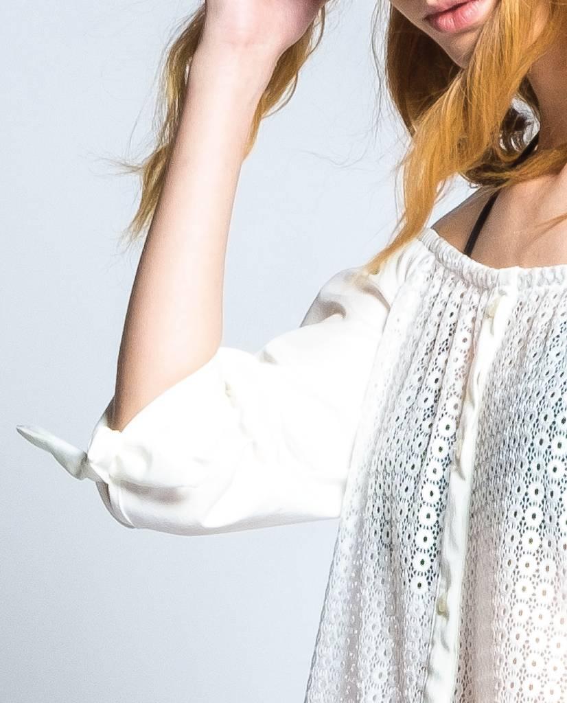 Preloved Preloved White Off The Shoulder Top