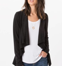 Z Supply ZSupply Black Suede Waterfall Cardigan