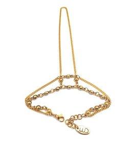 Well Dunn Well Dunn Gold Hand Bracelet