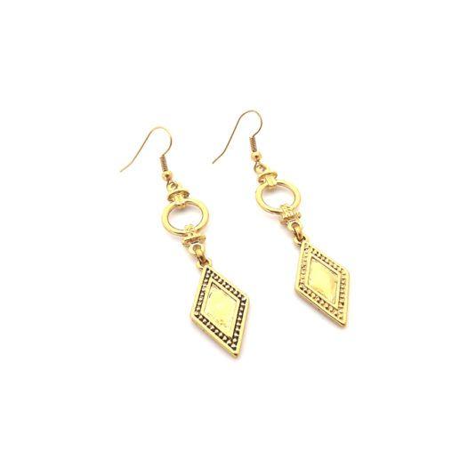 Well Dunn Well Dunn Gold Earrings w/ geometric pendants
