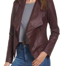 BB Dakota BB Dakota - Burgundy Leather Jacket
