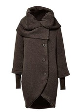 Melow by Melissa Bolduc Melow - Doubled Coat w/ Wide Pleated Turndown Collar 'Nana'