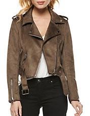 DEX Dex Brown Suede Moto Jacket