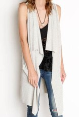 DEX Dex - Light Grey Waterfall Sweater Vest