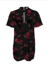 Black Tape Black Tape - Black/Burgundy Floral A Line Dress w/ Choker