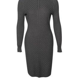 Black Tape Black Tape - Black Bodycon Rib Sweater Dress L/Slv