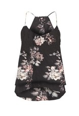 DEX Dex - Antique Floral Double Layer Tank