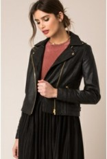 Black Swan Black Swan - Faux Leather Moto Jacket 'Andie'
