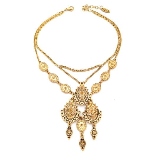 "Well Dunn Well Dunn - Statement Gold Plated Short Necklace ""Sanchez"""