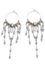"""Well Dunn Well Dunn - Silver Plated Detailed Hoop Earrings """"Poncho"""""""