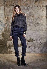 Melow by Melissa Bolduc Melow - Starlight Navy/Gold Knit w/ Draped Collar 'Ulysse'
