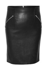 Black Tape Black Tape - Faux Leather Pencil Skirt w/ Zips