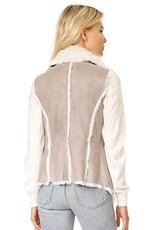 Cupcakes and Cashmere Cupcakes + Cashmere - 'Arden' Faux Suede Drape Front Vest