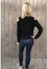 Black Swan Black Swan - Black Open Shoulder Sweater 'Kianna'