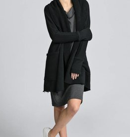 Pillar by Allison Wonderland Pillar - Black Open Cardigan w/ Hood '7 Cardi'