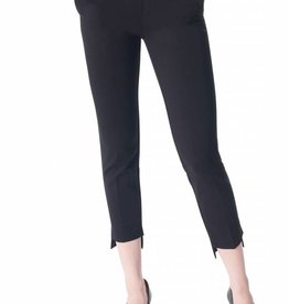 I Love Tyler Madison Tyler Madison - Black Asymmetric Hem Trouser w/ Belt