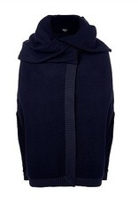 Melow by Melissa Bolduc Melow - Navy Cape w/ Turndown Collar