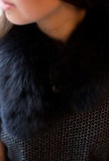 Back Road Crafts - Black Fox Fur Scarf