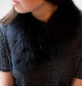 Back Road Crafts - Black Fox Fur Scarf