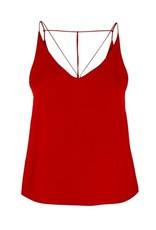 DEX Dex - Crimson Red Strappy Cami