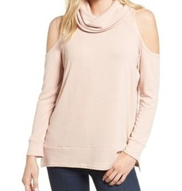 Cupcakes and Cashmere Cupcakes + Cashmere - Pink Cold Shoulder Top 'Malden'
