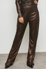 WYLDR WYLDR - Brown Metallic Trouser Pants