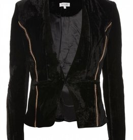 WYLDR WYLDR - Black Velour Blazer w/ Beaded Detail