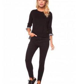 DEX Dex - Black/Gingham L/Slv Crewneck Sweater