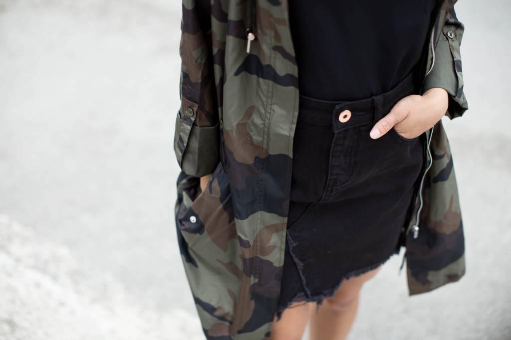 DEX DEX - Dark Camo Print Windbreaker Jacket