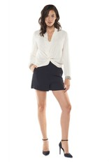 Black Tape Black Tape - White Twister Front L/Slv Shirt w/ Embellished Cuff