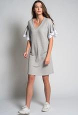 "Preloved Preloved - ""Charo"" Grey Mini Sweater Dress w/ Ruffle Tee"