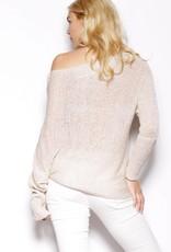 Pink Martini Pink Martini - Beige Off Shoulder L/Slv Knit 'Melrose'