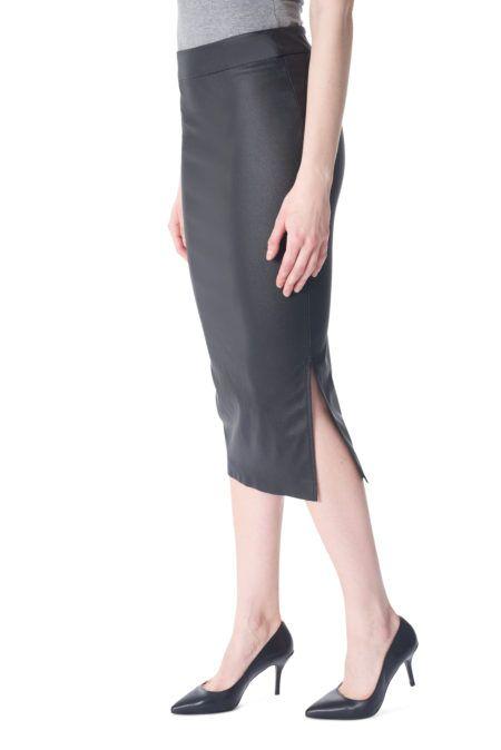 I Love Tyler Madison Tyler Madison - Wax Coat Midi Skirt